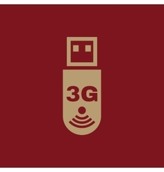 The 3g adapter icon transfer and connection data vector