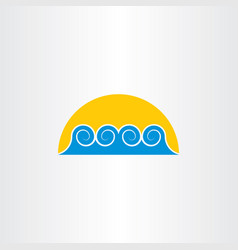 Tourism icon water wave sea symbol design element vector