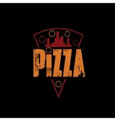 urban pizza slice design template on black vector image