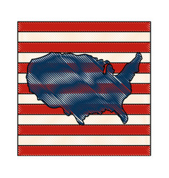 Usa country design vector