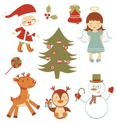 Fun christmas set vector
