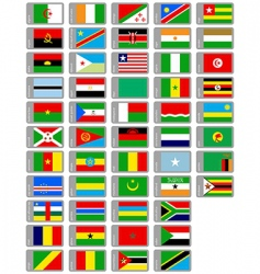 African flags collection vector image