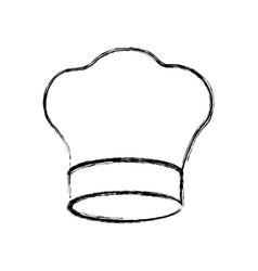 contour chef hat icon vector image