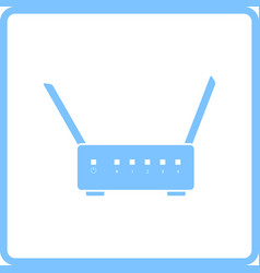 wi-fi router icon vector image