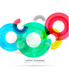 Abstract bright colorful circles background vector