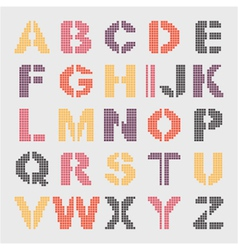 pixel geometric alphabet vector image