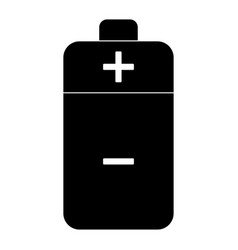 Battery the black color icon vector
