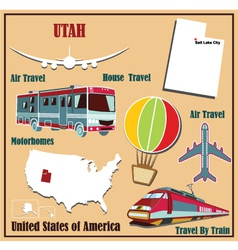 Flat map of utah vector