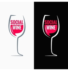 wine glass social media concept background vector image
