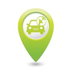cars satelite GREEN map pointer vector image