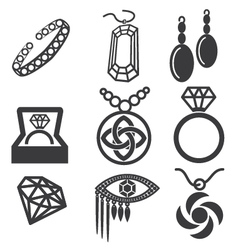 Jewelry mark set vector