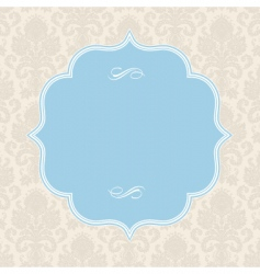 pastel ornate blue frame vector