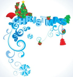 Christmas 3d text vector