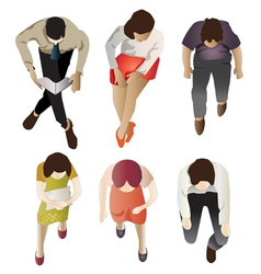 People sitting top view set 1 vector