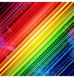 Rainbow diagonal stripes and colorful paint vector
