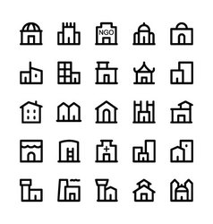 Building icons 3 vector