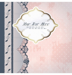 Pink background with lace vector