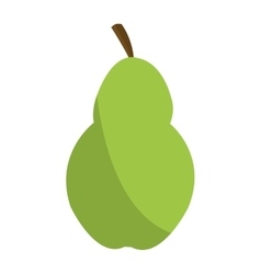 Green pear icon vector