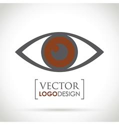 Abstract eye icon brown vector