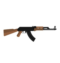 AK-47 kalashnikov assault rifle vector image