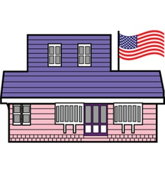 American home vector image