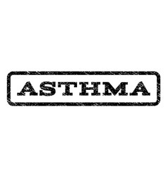 Asthma watermark stamp vector