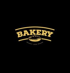 Bakery emblem fresh bread logo vector