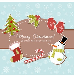 Beautiful Christmas card vector image vector image