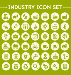 big industry icon set vector image