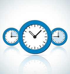 Blue business styled clock icons vector image