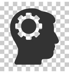Brain gear icon vector