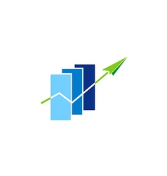 business finance graph arrow logo vector image vector image