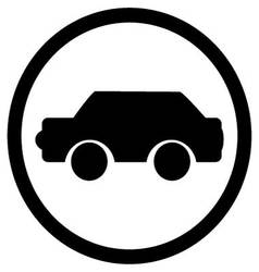 Car icon black vector
