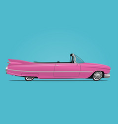 cartoon styled of retro car vector image vector image