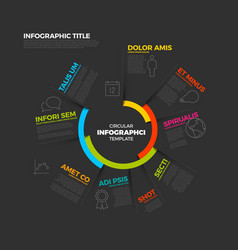 Circular infographic report template vector