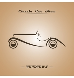 Classic car show poster concept vector image