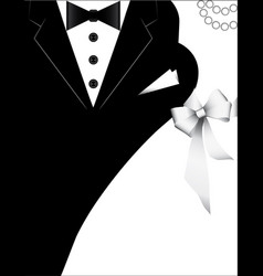 Costumes for weddings design for invitation card vector