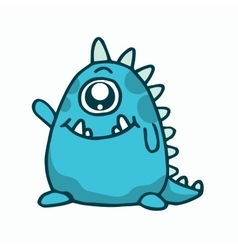 Cute monster t-shirt vector