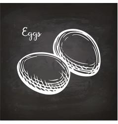 eggs sketch on chalkboard vector image