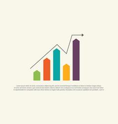 Financial graph chart business design vector