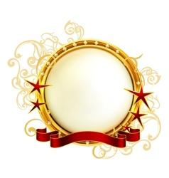 Golden Emblem vector image vector image
