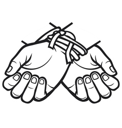 Hands tied vector