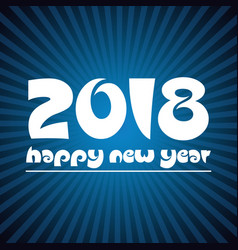 happy new year 2018 on blue stripped background vector image vector image