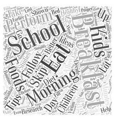 Healthy Breakfast Ideas Word Cloud Concept vector image vector image