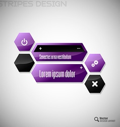 Hexagon Design vector image vector image