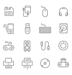 Lines icon set - devices accessory vector