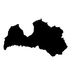 map Latvia vector image