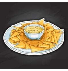 Nachos color picture sticker vector image