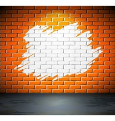 Painted brick wall vector