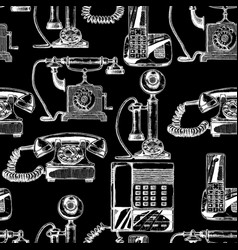 pattern with telephone vector image vector image